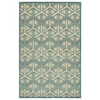 Indoor/Outdoor Luka Blue Dimensions Rug (8'8 x 12'0)
