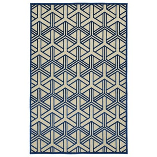 Indoor/Outdoor Luka Navy Dimensions Rug (7'10 x 10'8)