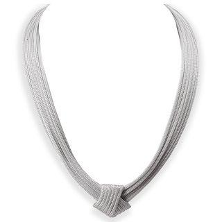 Avanti Sterling Silver Italian Fancy Knot Necklace