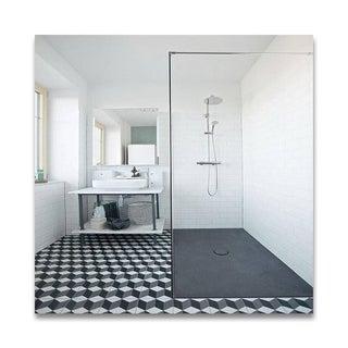 Pack of 12 Bahja Grey/ Black Handmade Cement/ Granite Moroccan Tile 8-inch x 8-inch Floor/ Wall Tile (Morocco)