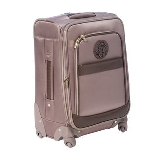 Anne Klein Taupe Newport 20-inch Expandable Carry On Spinner Upright Suitcase