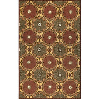 Ornamental Circles Outdoor Rug (8' x 10')
