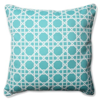 Pillow Perfect Outdoor/ Indoor Kane Aqua 23-inch Floor Pillow
