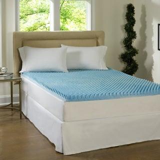 Beautyrest Dorm 3-inch Twin XL-size Textured Gel Memory Foam Mattress Topper