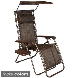 Gravity Lounge Chair with Sunshade and Side Table