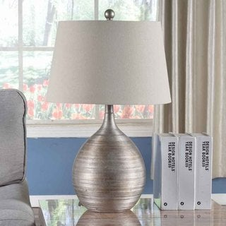 Creek Classics 24.5in Table Lamp with Antique Silver Finish