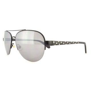 Kate Spade Women's Marion/S Grey/ Silver Metal Aviator Sunglasses