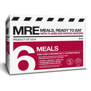 Meal Kit Supply 6-pack 2 course MRE with Heaters