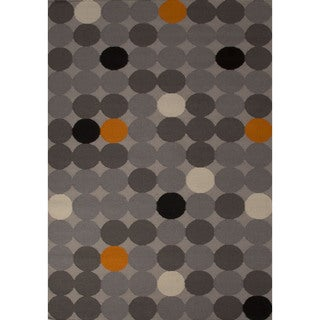 Flatweave Casual Geometric Pattern Moonstruck/ Paloma (5' x 8') Area Rug