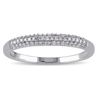 Miadora 14k White Gold 1/6ct TDW Diamond Wedding Band (G-H, I1-I2)