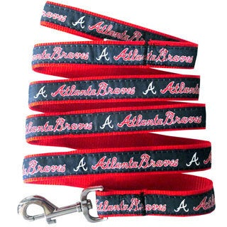 Genuine Atlanta Braves Licensed Pet Collar and Leash Combo Set (2 piece) - For Small to Large Dogs