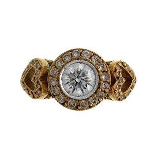 18k Two-tone Gold 1 1/3ct TDW Pink and White Diamond Fashion Ring (G-H, SI1-SI2)