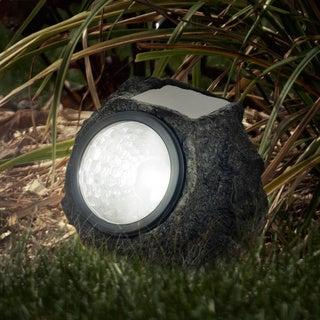 Pure Garden Set of 8 Solar LED Rock Landscaping Lights