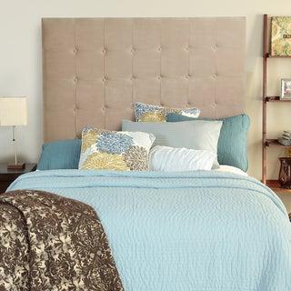 Humble + Haute Sussex Velvet Sand Tall Full Tufted Upholstered Headboard