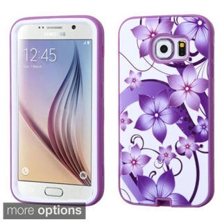 Insten Design Pattern Verge Hard PC/ Silicone Dual Layer Hybrid Rubberized Matte Phone Case Cover For Samsung Galaxy S6