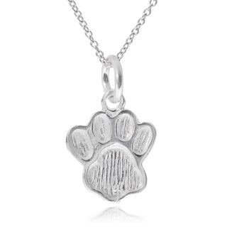 Journee Collection Sterling Silver Dog Paw Pendant