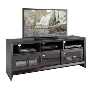 CorLiving TEH-506-B Carlisle Coffee Black TV Bench (Up to 60 inches)