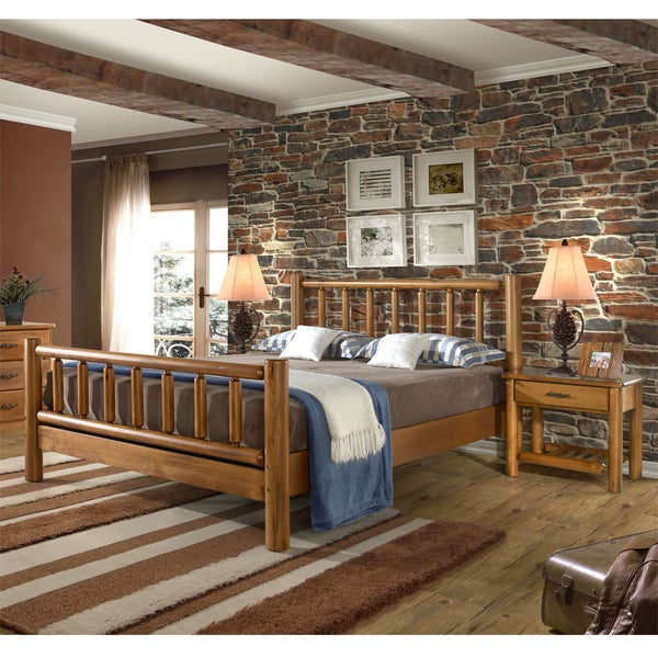 Timber Creek Bedroom Set Queen Bed And Two Nightstands Overstock Shopping Big Discounts On