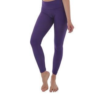 Luna Jai Women's Purple Active Fold Over Waist Band Pants