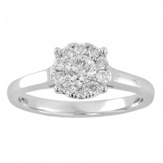 14k White Gold 1/2ct TDW Round Diamond Unity Ring (H-I, I2-I3)