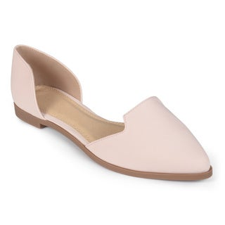 Journee Collection Women's 'Mary' Cut-out Pointed Toe Flats