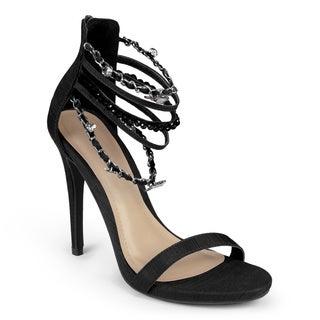 Journee Collection Women's 'Linnea' Open Toe Ankle-strap Heels