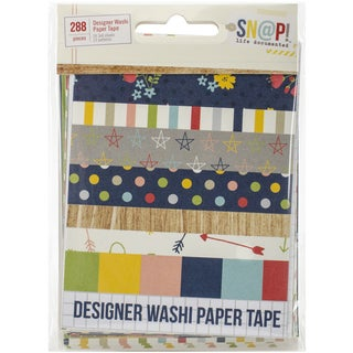 Sn@p! Life Documented Washi Paper Tape 3inx4in Sheets 24/PkgDesigner