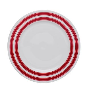Race Stripe Red 7-inch Salad Plate (Set of 4)