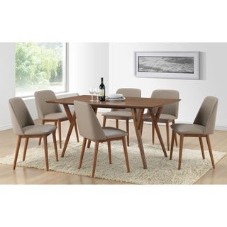 Lavin Mid-Century Solid Wood 7-pieces Dining Set