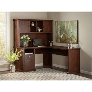 Bush Furniture Yorktown Collection L-desk with Hutch