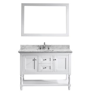 Julianna 48-inch Single Bathroom Vanity Cabinet Set in White
