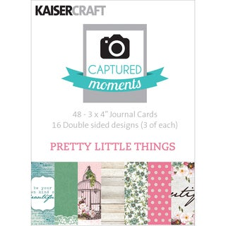 Captured Moments DoubleSided Cards 3inX4in 48/PkgPretty Little Things