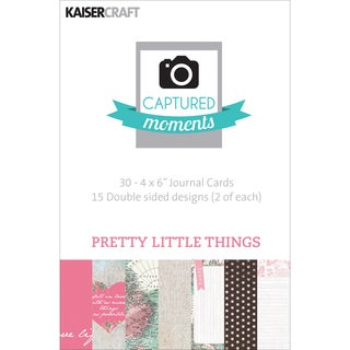 Captured Moments DoubleSided Cards 6inX4in 30/PkgPretty Little Things