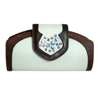 Silk Leather 'Princess' Handbag (India)