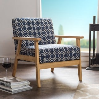 Ayleward Navy Blue Leisure Armchair for Small Space Living