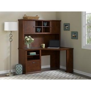 Bush Furniture Yorktown Collection 60W Corner Desk and Hutch