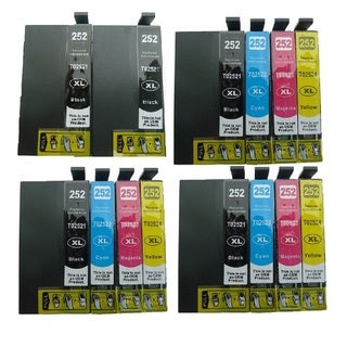 14-pack Replacing T252XL Ink Cartridge for Epson WF-3620 WF-3640 WF-7110 WF-7610 WF-7620 Printer