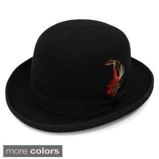 Ferrecci Premium Lined Wool Clockwork Orange Style Classic English Derby Hats