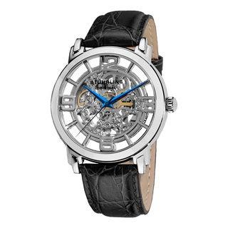 Stuhrling Original Men's Winchester Grand Automatic Leather Strap Watch