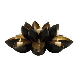 Lovely Floral Designed Metal Votive Holder