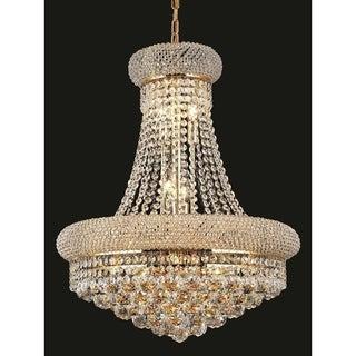 Elegant Lighting Gold Royal-cut Crystal Clear Hanging 20-inch 14-light Chandelier