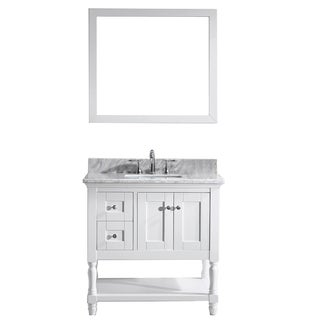 "Julianna 36"" Single Bathroom Vanity Cabinet Set in White"