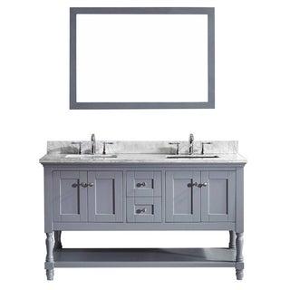 Julianna 60-inch Double Bathroom Vanity Cabinet Set in Grey