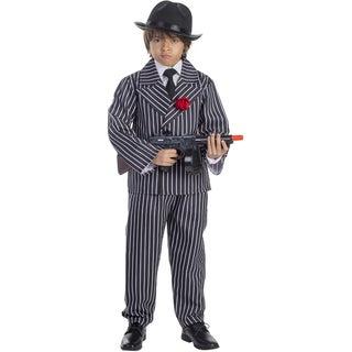 Dress Up America Boys' Striped Gangster Costume