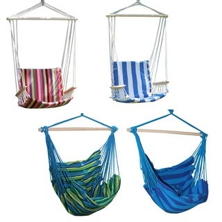 Adeco Colorful Stripe Hammock Chair