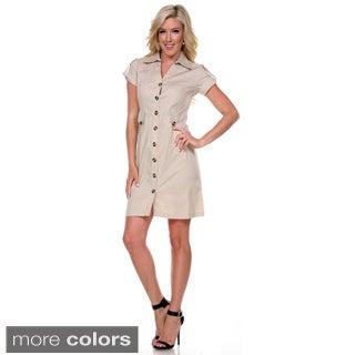 Stanzino Women's Collared Trench Dress