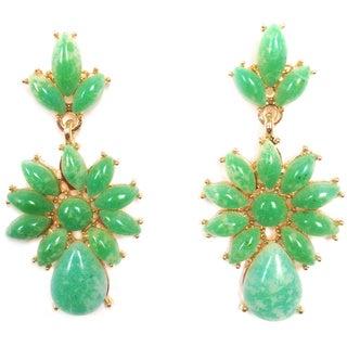 Jack E Ohs NYC Statement Green Chandelier Earrings