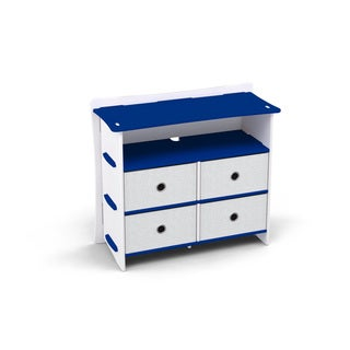 Legare Kids Furniture 4-drawer Blue and White Dresser