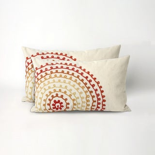 Concentric Circles 20-inch Throw Pillow (Set of 2)