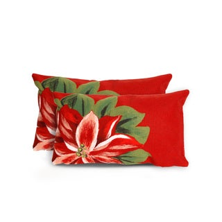 Floral Indoor/Outdoor 12 x 20 inch Throw Pillow (set of 2)